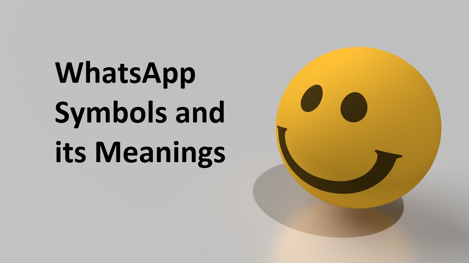 Whatsapp Symbols And Its Meanings My Instant Messaging