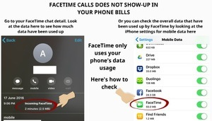 FaceTime does not show on phone bills 3