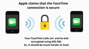 Facetime call is secure 5